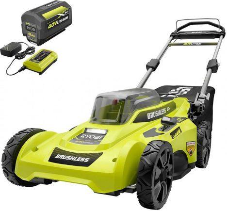 RYOBI 40-Volt Lithium-Ion Battery Brushless Self-Propelled Lawnmower