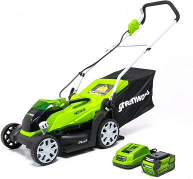 Best Electric Lawn Mower Under $300-Greenworks 14-inch Lawn Mower